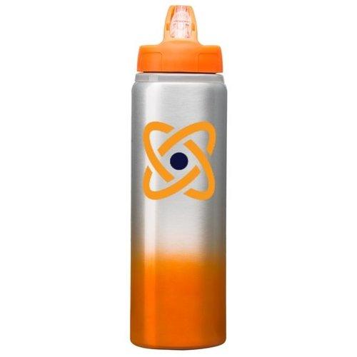 Orange 25 oz. Custom Aluminum Bottle with Full-Color Wraparound - Gradient Finish