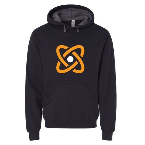 Black Fruit of the Loom® SofSpun Hooded Pullover Sweatshirt