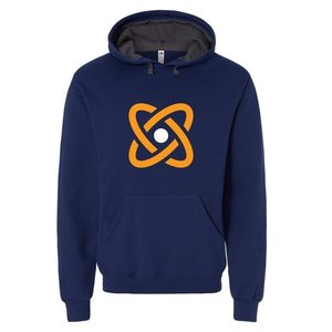 Navy Fruit of the Loom® SofSpun Hooded Pullover Sweatshirt