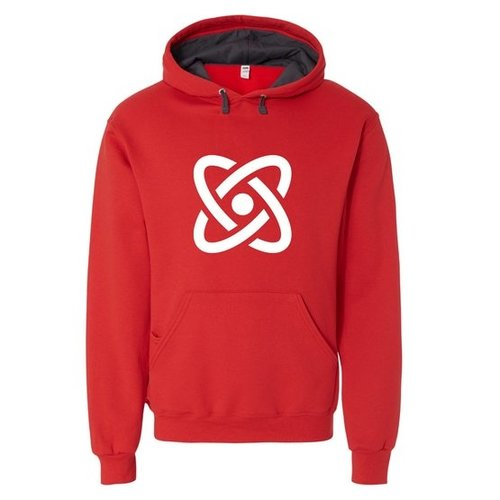Red Fruit of the Loom® SofSpun Hooded Pullover Sweatshirt