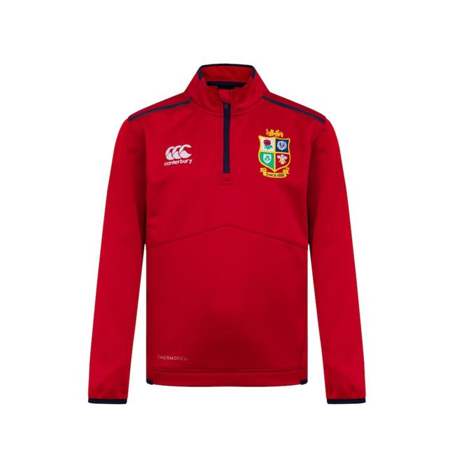 British & Irish Lions Thermoreg Quarter Zip Fleece Junior