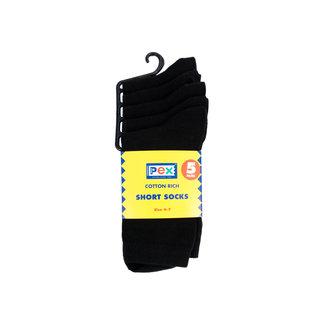 BMS Black Short Socks 5 Pack