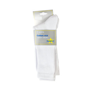 BS White Sport Socks