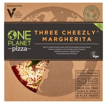 One Planet Pizza Three Cheezly Margherita Pizza - One Planet Pizza - 10 x 418g