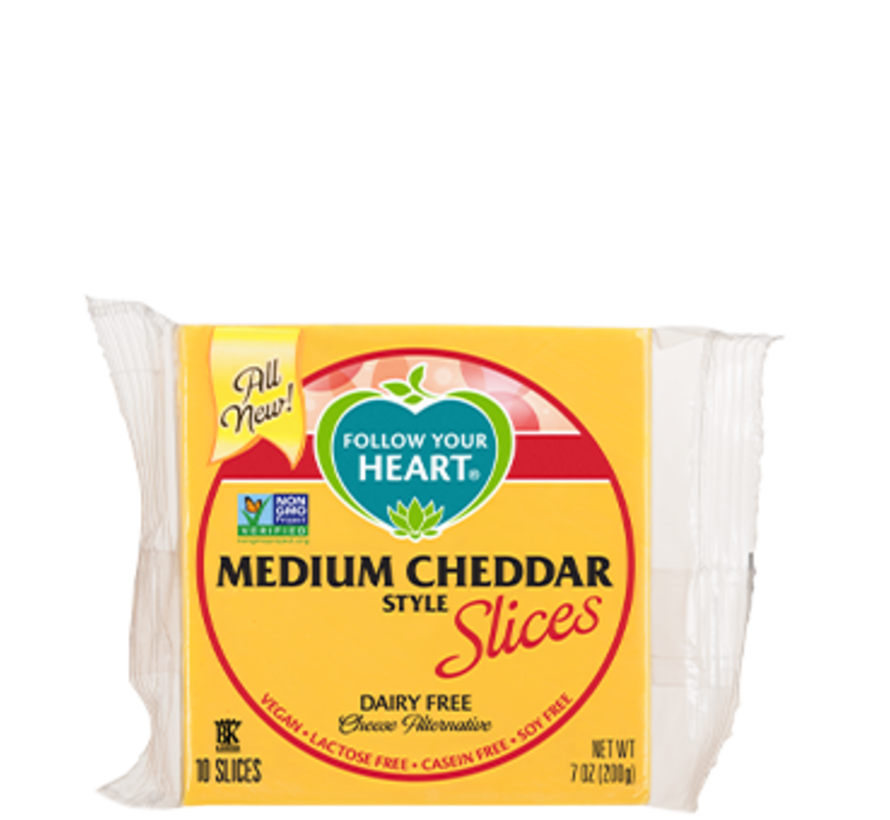 Medium Cheddar Style Slices - FYH - 12 x 200g