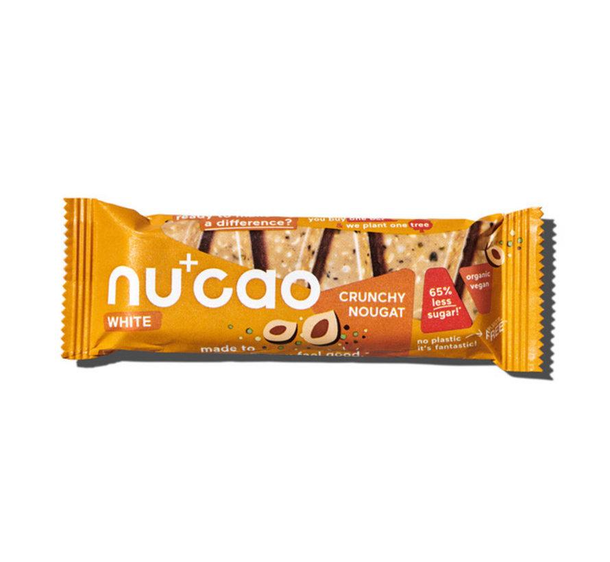 Nu+cao White Crunchy Nougat - the nu company - 12 x 40g