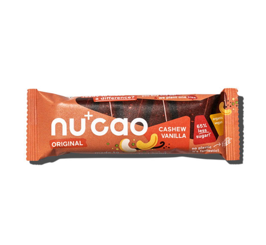 Nu+cao Cashew Vanilla - the nu company - 12 x 40g