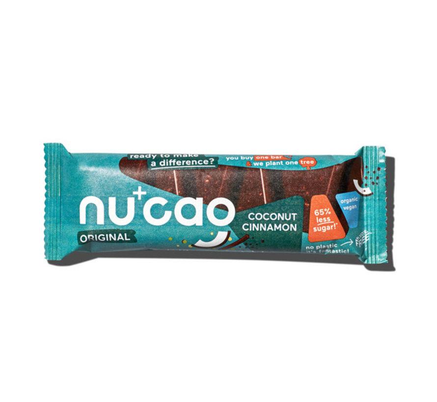 Nu+cao Coconut Cinnamon - the nu company - 12 x 40g