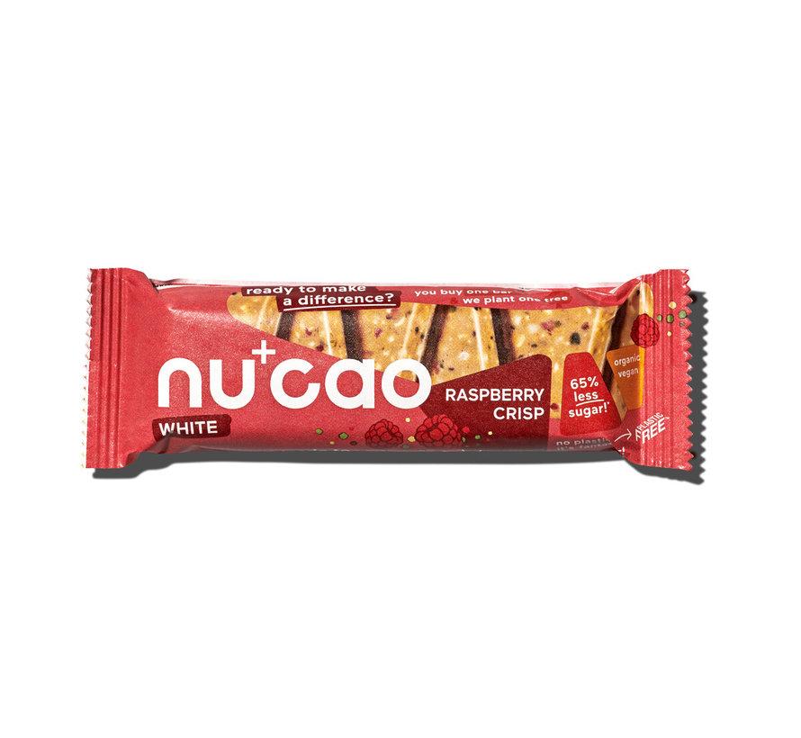 Nu+cao White Raspberry Crisp - the nu company - 12 x 40g