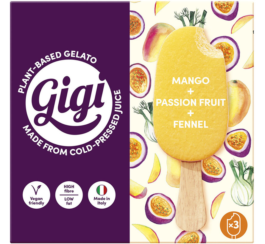 Multipack Mango, Passion fruit & Fennel- Gigi - 8 x (3 x 70g)