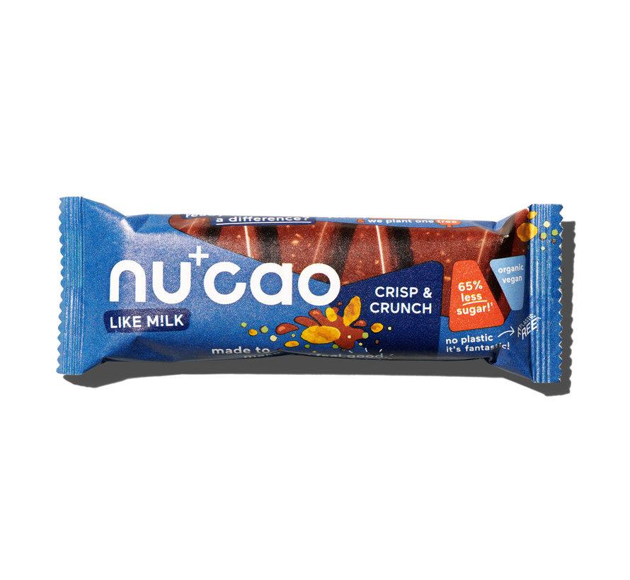 Nu+cao M!lk Crisp & Crunch - the nu company - 12 x 40g