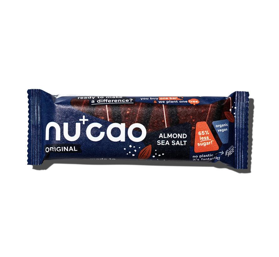 Nu+cao Almond Sea Salt - the nu company - 12 x 40g