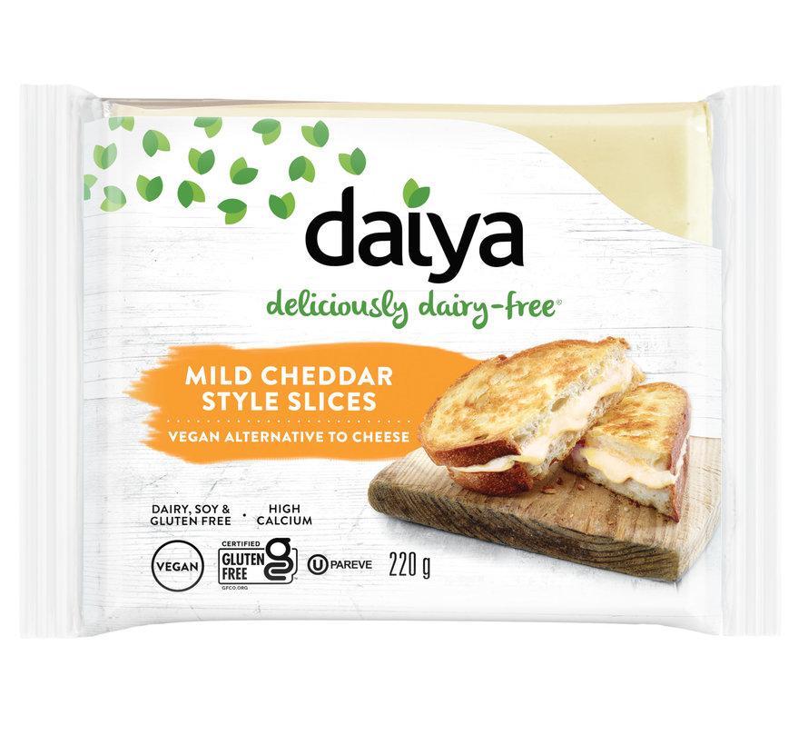 Mild Cheddar Style Slices - Daiya - 8 x 220g  (ENG back-label)