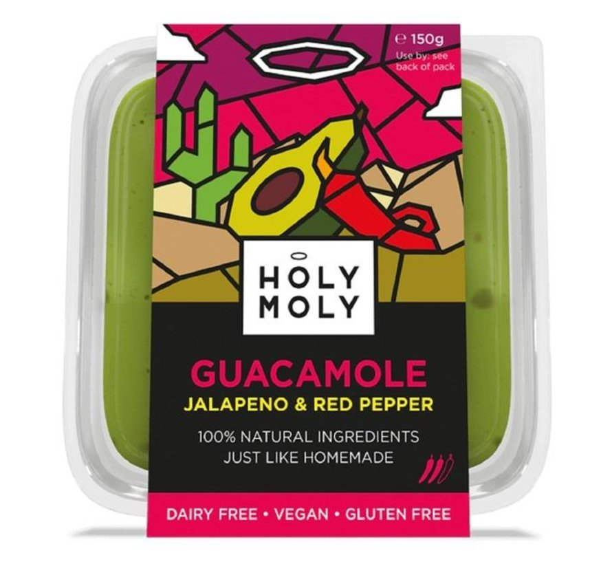 Jalapeno Guacamole - Holy Moly - 10 x 150g