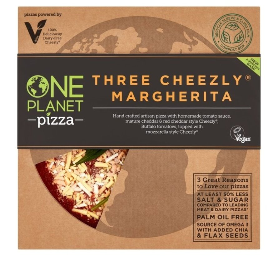 One Planet Pizza - Three Cheeze Margherita - 10 x 350g