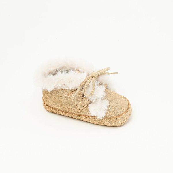 Patt'touch Chaussure bébé Boots | Andréa Devenlight or