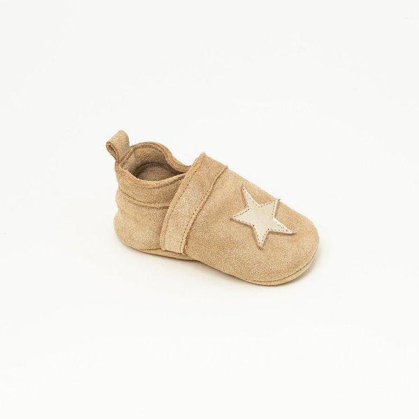 Patt'touch Chaussure bébé slipper | Gwenaël Devenlight Or