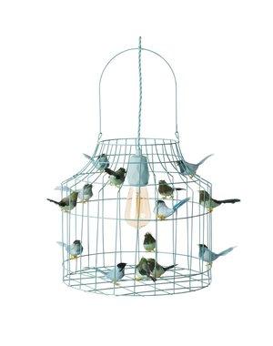 DUTCH DILIGHT hanglamp vogeltjes groot lichtblauw