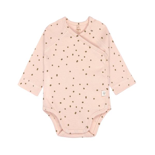 Lässig Overslag romper lange mouwen dots powder pink