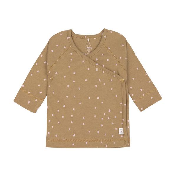 Lässig Kimono shirt dots curry