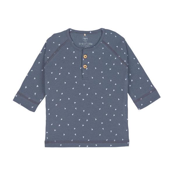 Lässig Shirt lange mouwen triangel blue