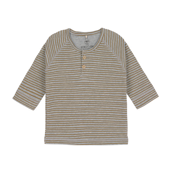 Lässig Shirt lange mouwen striped grey mélange