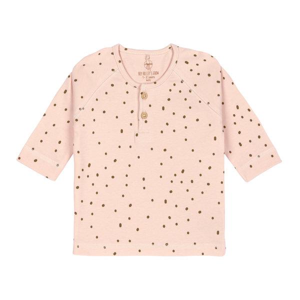 Lässig Shirt lange mouwen dots powder pink