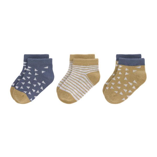 Lässig Sneaker sokken curry/blue, 3 paar