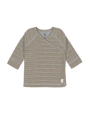Lässig Kimono shirt striped grey mélange