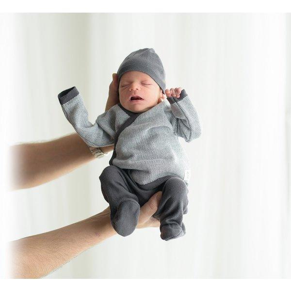 Micu Micu Newborn set jacquard grey