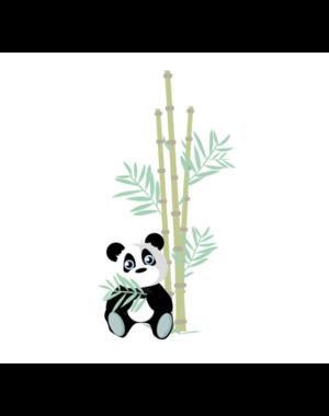 LM Baby Art Jungly jungle - Panda met bamboe muursticker - 30x60cm