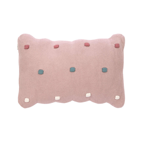 Lässig Knitted kussen dots dusky pink