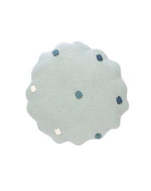 Lässig Knitted kussen dots light mint