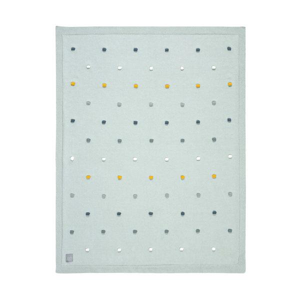 Lässig Knitted deken dots light mint