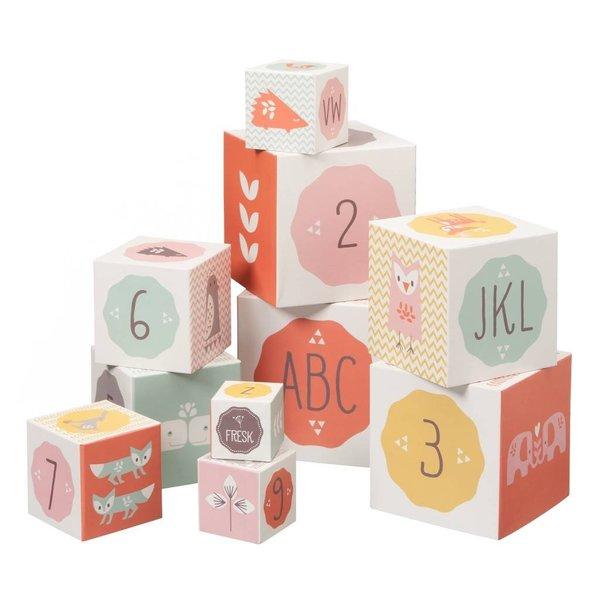 Fresk Blokkenset (10 blokken) meisje