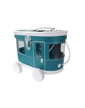 O'That Babyhebbedingetjes Speelkoffertje tram petrol