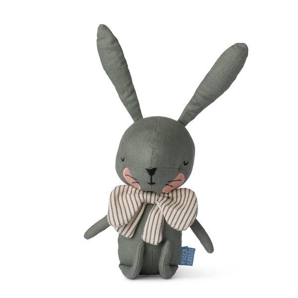 Picca Loulou Groene konijn knuffeldier in geschenkdoos