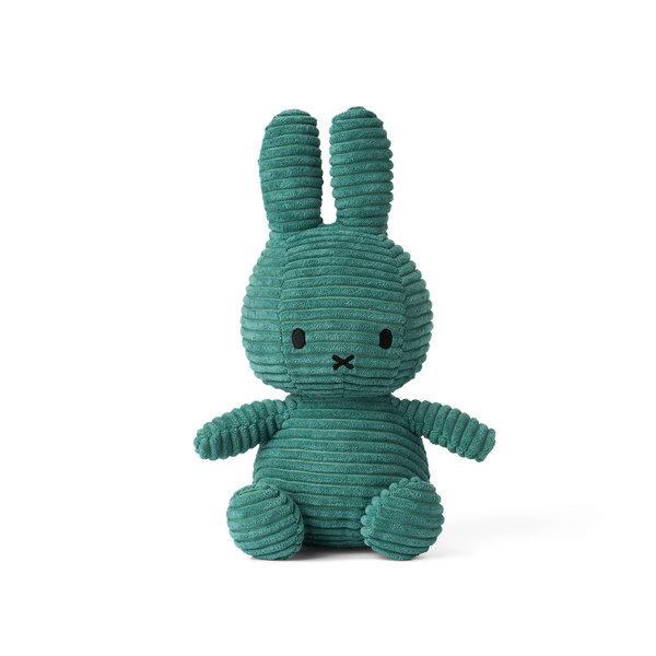Nijntje-Miffy Corduroy knuffel groen - 23 cm