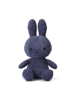 Nijntje-Miffy Corduroy knuffel donkerblauw - 33 cm