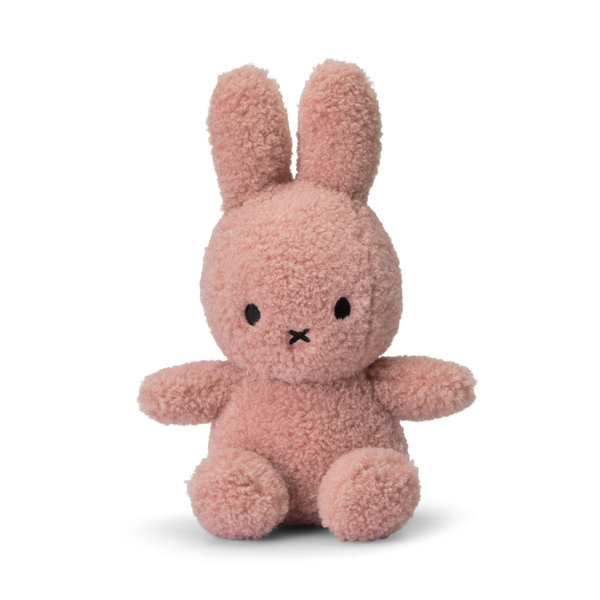 Nijntje-Miffy Sitting teddy roze 100% recycled - 23 cm