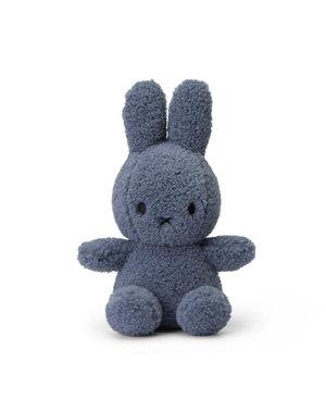Nijntje-Miffy Sitting teddy blauw 100% recycled - 23 cm