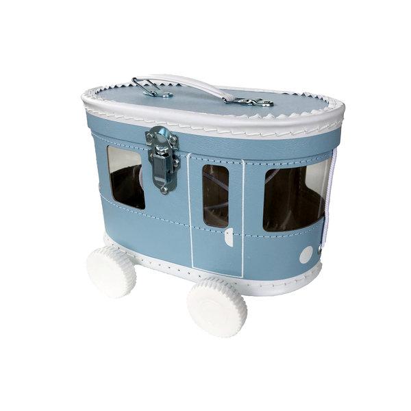 O'That Babyhebbedingetjes Speelkoffertje tram lichtblauw
