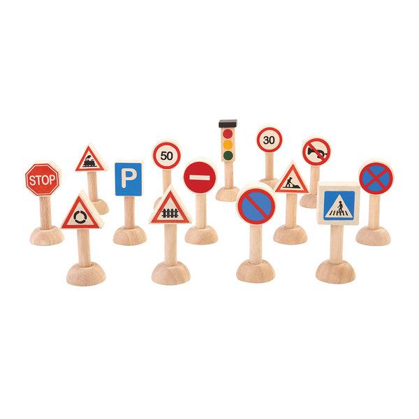 PlanToys Verkeersborden & lichten set