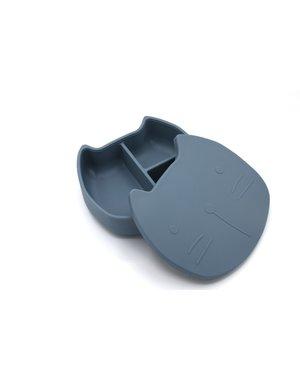 The Cotton Cloud Lunchbox Pippa de kat -  Smokey Blue