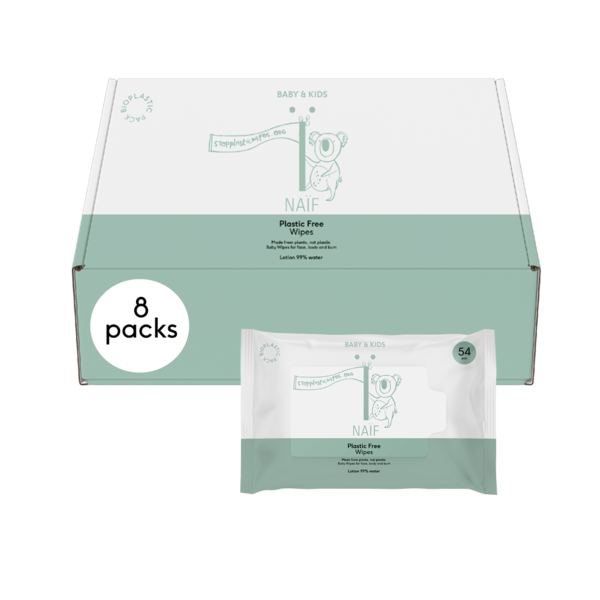 Naïf Plastic vrije Billendoekjes - box 8 stuks