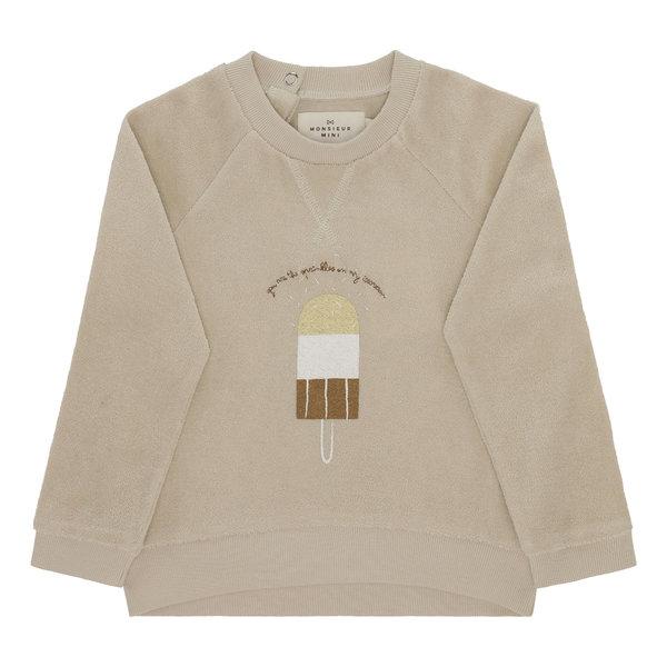 Monsieur Mini Sweatshirt Terry ice cream
