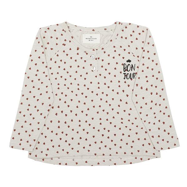 Monsieur Mini Longsleeve Shirt Hearts