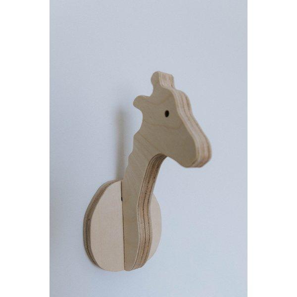 Ted & Fred Houten dieren wandhaak Giraffe Ted