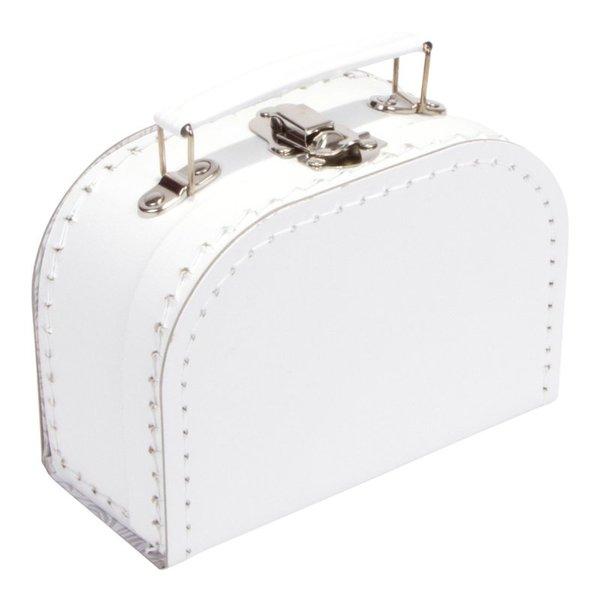 Kinderkoffertjes Koffertje wit - 16 cm