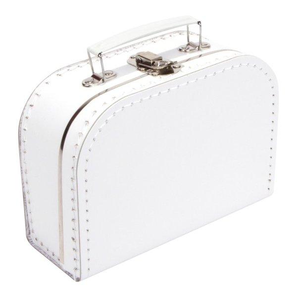 Kinderkoffertjes Koffertje wit - 20 cm